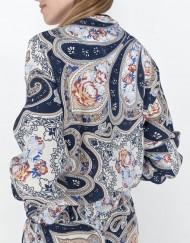 Girls Vintage Flower Bomber Jacket with Leather Line Coat BL-