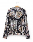 Girls Vintage Flower Bomber Jacket with Leather Line Coat BL-