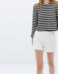 Colors High Waisted Shorts with Zips Trousers