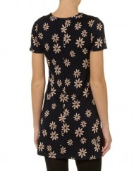 Flower Prints A-line Short Sleeves Dress