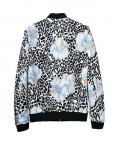 Super Cool PRINTED NEOPRENE BOMBER JACKET Coat BL-