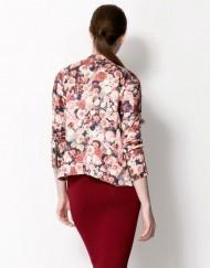 Girls Flower Prints Leisure Bomber Jackets Coat BL