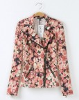Girls Flower Prints Leisure Bomber Jackets Coat BL