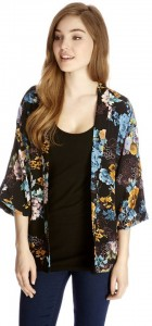 Girls Flower Prints Kimonos Loose Coats Outerwear