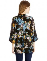 Girls Flower Prints Kimonos Loose Coats Outerwear