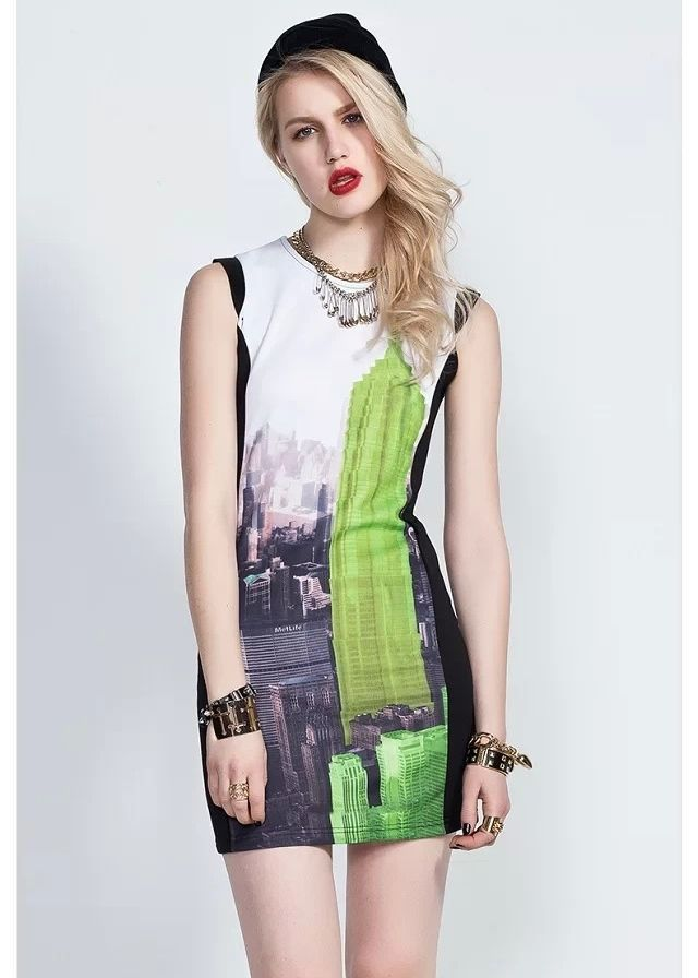 12a727d7bfa Girls Rock Style Printed Slim Fit Tank Dress | Avery Couture