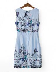 Oriental Flower Printed Tank DressA