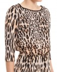ASOS Inspired Leopard Prints Casual Chiffon Dress with Lace Sweep