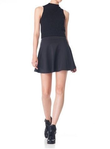Color Big Sweep Mini Skirt S-O