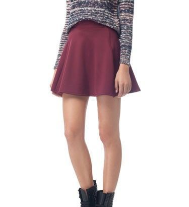 Color Big Sweep Mini Skirt S-O
