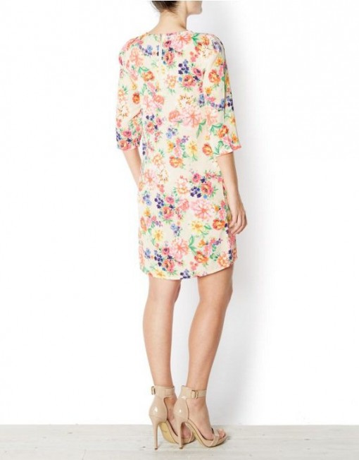 Colors Vintage Flower Prints Straight Dress 's casual dress