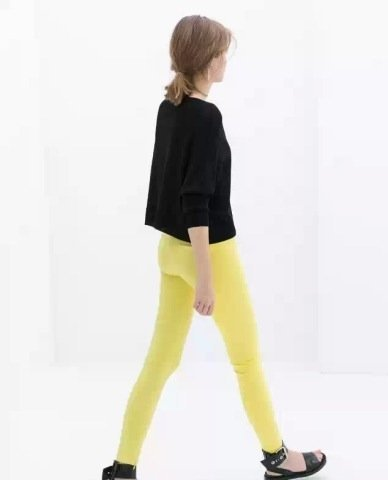 Color Zipper Pencil Trousers