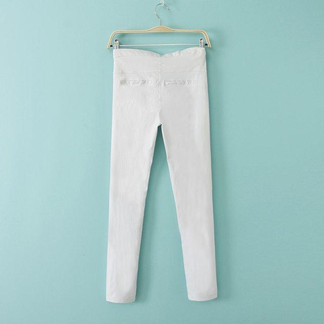 Color Zipper Pencil Trousers