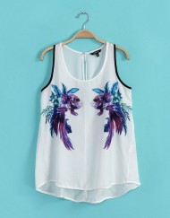 Beauty Goldfish Prints Casual Tank Tops