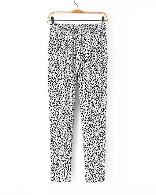 Black Floral Printed Casual Straight Trousers ASOS Inspired Summer Loose Pants