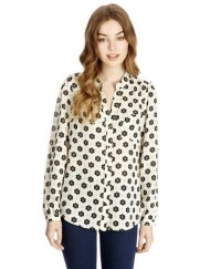 Casual Sunflowers Printed Chiffon Blouse ASOS Inspired Shirt with Pocket