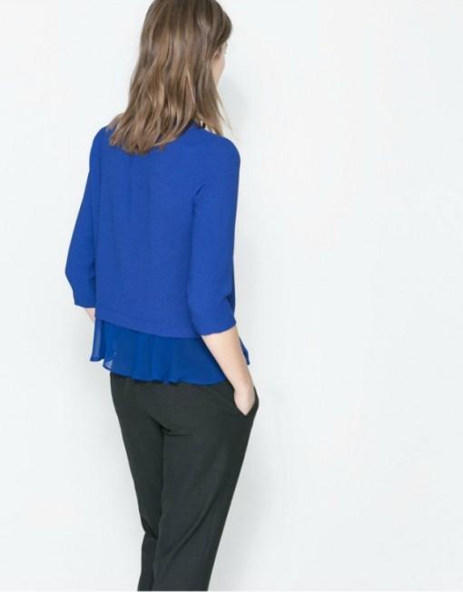 Chiffon Ruffles Casual Blouse Shirt -