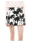 Coconut Trees Prints Mini Skirt S-O