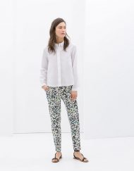 Colored Geometric Prints Casual Pants -