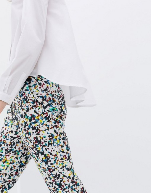 Colored Geometric Prints Casual Pants -