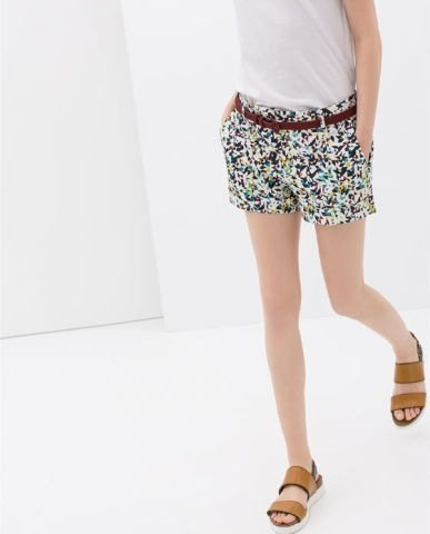 Colored Geometric Prints Casual Shorts Pants -