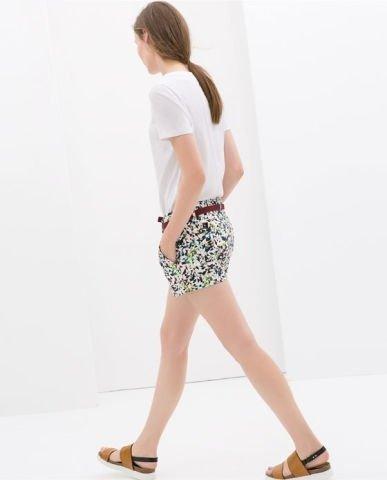 Colored Geometric Prints Casual Shorts Pants -