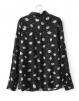Top Shop Inspired Daisies Printed Blouse Shirt with Pockets