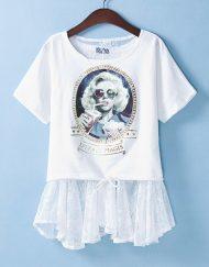 Beauty Printed Clothes Sets ASOS Inspired T-shirts Tops