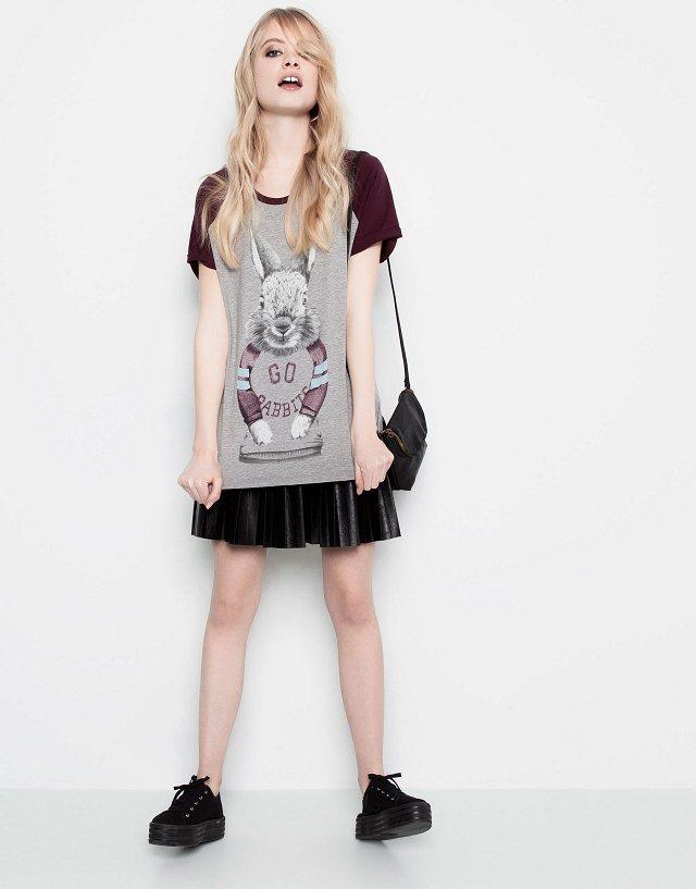 Cartoon Rabits Printed Casual T-shirts Tops -