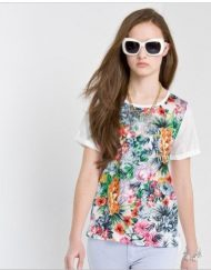 Floral Prints Chiffon T-shirt Tops ASOS Inspired Tees