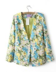 Flower Prints Casual Suit ASOS Inspired Casual Coat BL-