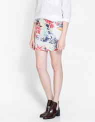 Flower Prints Mini Skirt ASOS Inspired Pencil Skirt S-O