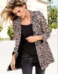 Leopard Prints Casual Suit ASOS Inspired Casual Coat BL-