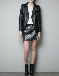 Motorcycle Leather Jackets with Covered Studs Coat