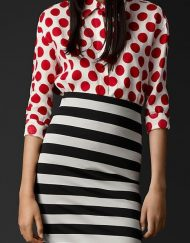 Polka Dots Prints Chiffon Blouse leisure Shirt