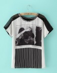Printed Casual T-shirt Tops -
