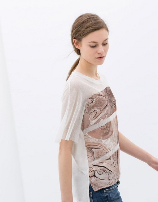 Printed Combined T-shirt ASOS Inspired Tops