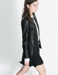 Suit Style Leather Jackets with Collected Waist Coat