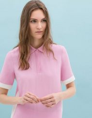 Two-Tone Tops Blouse