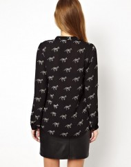 Zebra Prints Casual Blouse leisure Shirt-