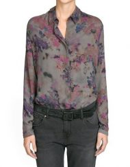 Floral Prints Casual Chiffon Blouse leisure Shirt