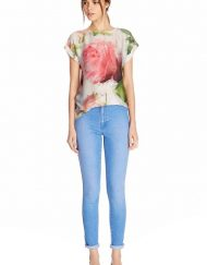 Flower Printed Casual T-shirt Top