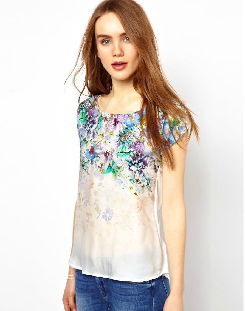Flower Printed Tops Flower Printed Combination