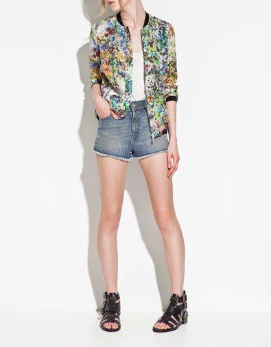 Flower Printed Zipper Bomber Jackets ASOS Inspired Coats BL-