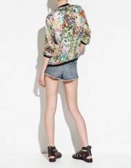 Flower Printed Zipper Bomber Jackets ASOS Inspired Coats BL-