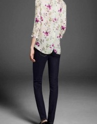 Flower Prints / Sleeves Casual Blouse Shirt