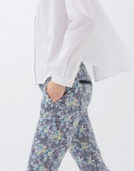 Flower Prints Skinny Pencil Pants -