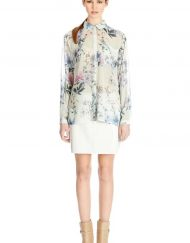 Flowers Printed Chiffon Pocket Blouse ASOS Inspired Shirt