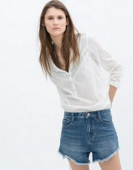 High Waisted Denim Shorts Pants -