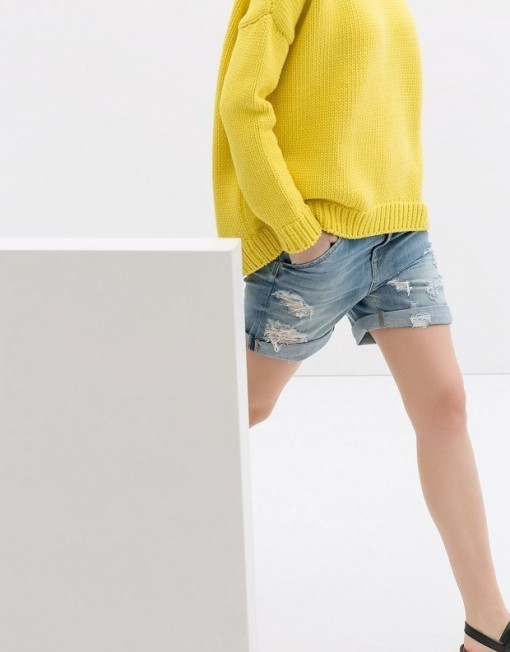 Holes Denim Shorts Pants -